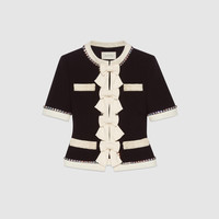 Gucci Wool jacket with sequin embroidered cat