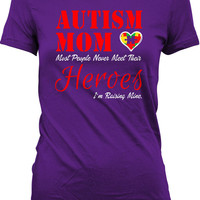 Autism Awareness Shirt Autism Gifts For Women Autism Mom T Shirt Autistic Shirt Autism Spectrum Gifts For Mom Advocate Ladies Tshirt MD-351B