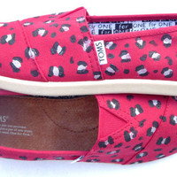 The Cheetah  Red and Black Custom TOMS by FruitfulFeet on Etsy