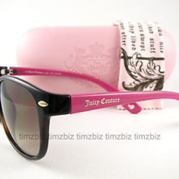 New Juicy Couture Sunglasses Encore/s Tortoise Pink V08Y6 Authentic