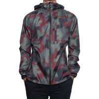 HUF - 10K MARATHON JACKET // BLACK SPRAY CAMO