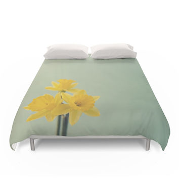 Society6 Daffodils Duvet Cover