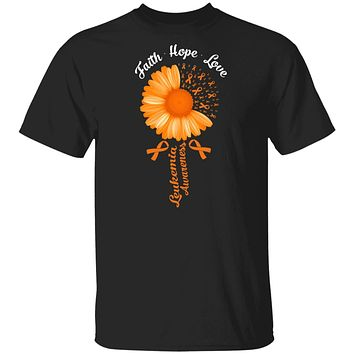Faith Hope Love Orange Ribbon Leukemia Awareness