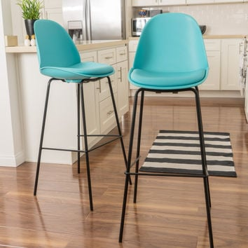 Sizda Contemporary Light Blue Bar Stools (set of 2)