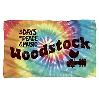 Woodstock Tie Dye Fleece Blanket