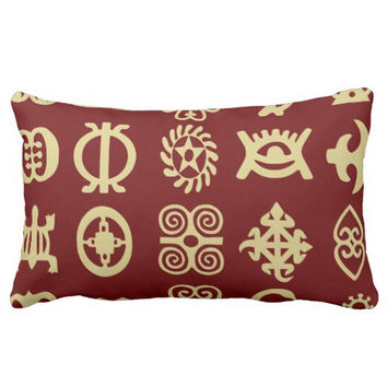 Adinkra African Symbols Luxury Printing Soft Rectangle Throw Pillowcase Twin Sides Printing Home Decor