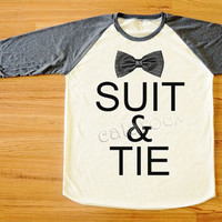 Suit&Tie Shirt Justin Timberlake Shirt Text Shirt Hippie Shirt Long Sleeve Tee Shirt Women Shirt Men Shirt Unisex Shirt Baseball Shirt S,M,L