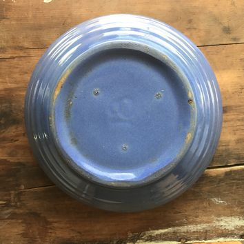 Vintage Bauer #18 Blue Mixing thin ring Bowl 1940's