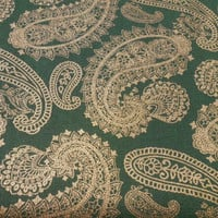 Cotton Fabric, Christmas Paisley Fabric, Poinsettia Glamour by AE Nathan Co, Sold by the Yard