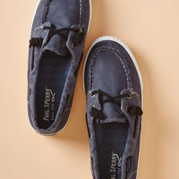 Dockside Pride Canvas Flat in Navy