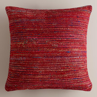 Berry Recycled Silk Sari Pillow - World Market