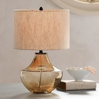 Alana Luster Glass Table Lamp Base - Smoke