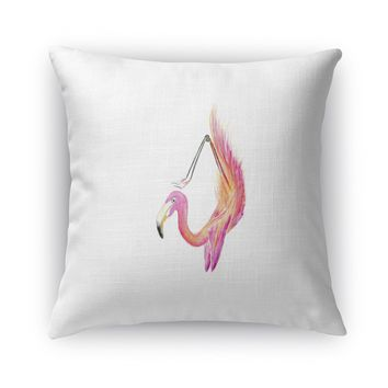 FLAMINGO IN SCORPION Accent Pillow By Birds Doing Yoga