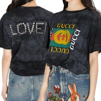GUCCI Retro Logo Back Loved T-shirt