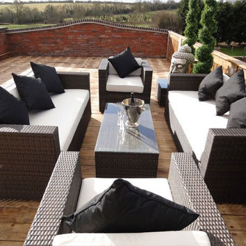 Trade Assurance aluminium garden furniture outdoor rattan sofa sets modern sectional sofa
