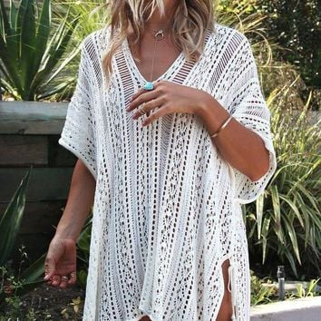 PEAPGC3 Sexy Knitted Pareo Beach Cover up Saida de Praia Swim suit Bathing Suit Tunic Women Crochet Bikini Robe De Plage Beach Dress