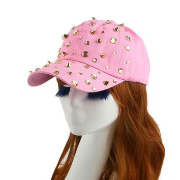 Hot Sale Rhinestone Spike Studs Hip Hop Snapback Hats For Women Woman New Brand Female Sports Baseball Cap Outdoor Girl Gorras