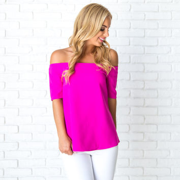Sleek & Chic Blouse In Magenta