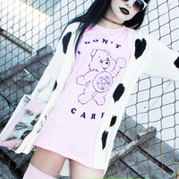 I DON'T CARE BEAR TEE — NIKKI LIPSTICK