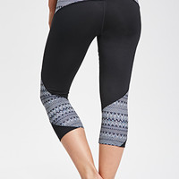 Geo Print Capri Workout Leggings