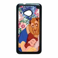 Beauty And The Beast Floral Vintage HTC One M7 Case