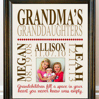 Personalized Grandparent Print