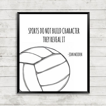 Customizable Volleyball Art Print, Volleyball Art, Quote Art