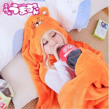 Umaru Chan Anime Cosplay Costume Himouto Umaru-Chan Cloak Doma Umaru Soft Hoodie Cape Party Halloween Costume For Women