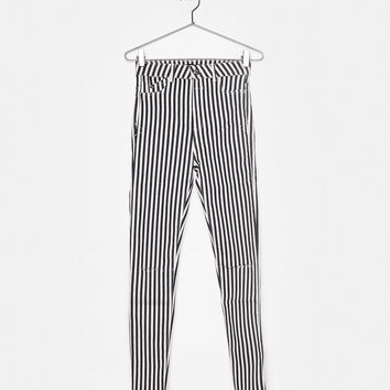 Ripped high waist pants - Pants - Bershka United States