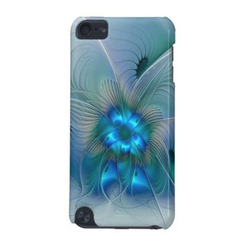 Standing Ovations, Abstract Blue Turquoise Fractal iPod Touch (5th Generation) Case