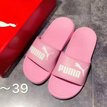 PUMA pop Cat fashion women men leisure slippers Pink B-A-GHSY-1