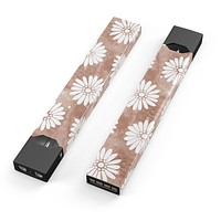 Skin Decal Kit for the Pax JUUL - Brown Watercolor Flowers V2