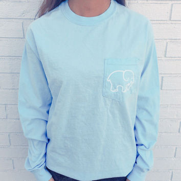 Pocketed Sky Blue Classic Print