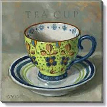 Gallery Wrap on Wood Frame ~ Tea Cup
