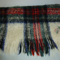 Vintage Wilbro Mohair Made in Scotland Tartan Plaid Blanket Thow Lap Blanket Stadium Throw