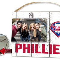 Philadelphia Phillies Clip It Weathered Logo Photo Frame