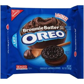 Nabisco Oreo Brownie Batter Creme Chocolate Sandwich Cookies, 10.7 oz - Walmart.com