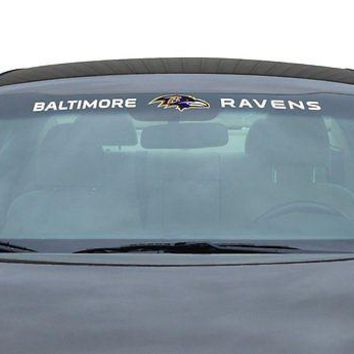 Baltimore Ravens NFL Licensed Auto Car Truck Windshield Decal