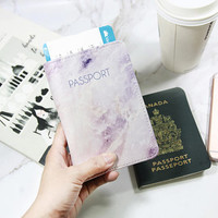 FREE CUSTOM Marble passport holder,pink passport cover,personalized passport cover,leather passport holder,passport wallet,personalized gift