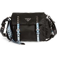Prada Studded Nylon Messenger Bag | Nordstrom