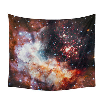 Space Tapestry, Landscape Print, Wall Tapestries, Decor, Nebula, Galaxy, Stars, Constellation, Geek, Landscape, Photography, Outer Space
