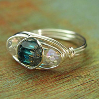 Wire Wrapped Ring FREE SHIPPING by PolymerPlayin on Etsy