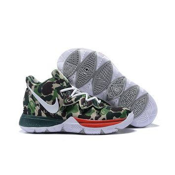 Nike Kyrie 5 Green Camo Men Shoes - Best Deal Online