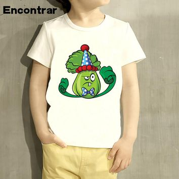 Plants vs. Zombies Cartoon Pirate Children T Shirt Designs Teen Boys Kids Clothing For Boys Baby Clothing Girls T-Shirts,HKP3037