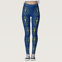 Leggings with flag of Indiana State, USA