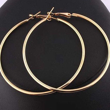 Round Big Large Hoop Huggie Loop Earrings for Women CAL