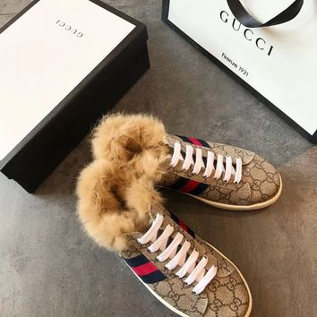 GUCCI Ace sneaker with wool
