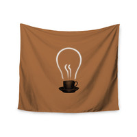 "Digital Carbine ""The Power Of Coffee"" Brown Food Wall Tapestry"