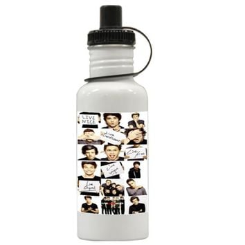 Gift Water Bottles | Funny 1D One Direction Collage Aluminum Water Bottles
