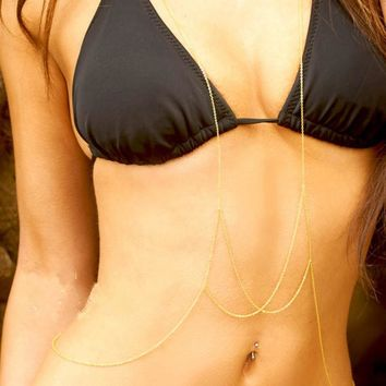 Stylish Jewelry Shiny Gift New Arrival Chain Sexy Bikini Body Necklace [8804750983]